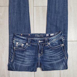 Miss Me Embellished Skinny Jeans, Size 28